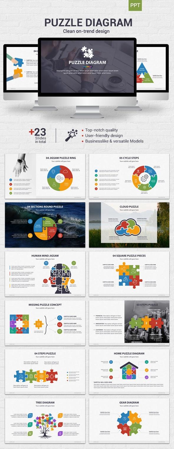 Puzzle Diagram - Powerpoint - Business PowerPoint Templates