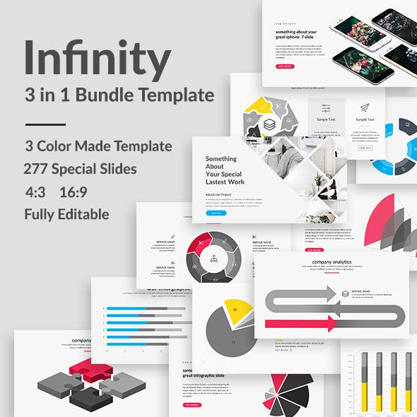 3 in 1 Infinity Bundle Powerpoint Template