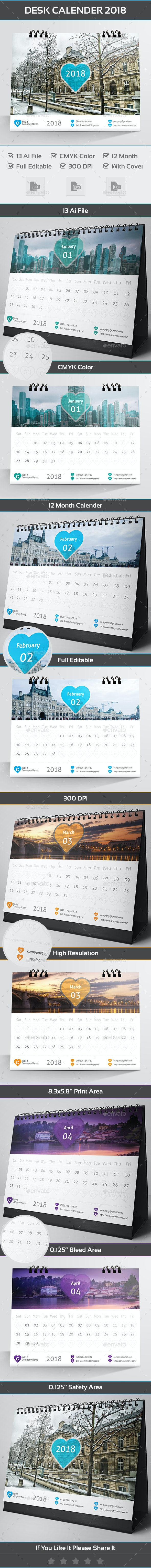 Desk Calender 2018 - Calendars Stationery