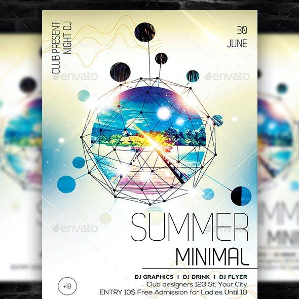 Summer Minimal Flyer