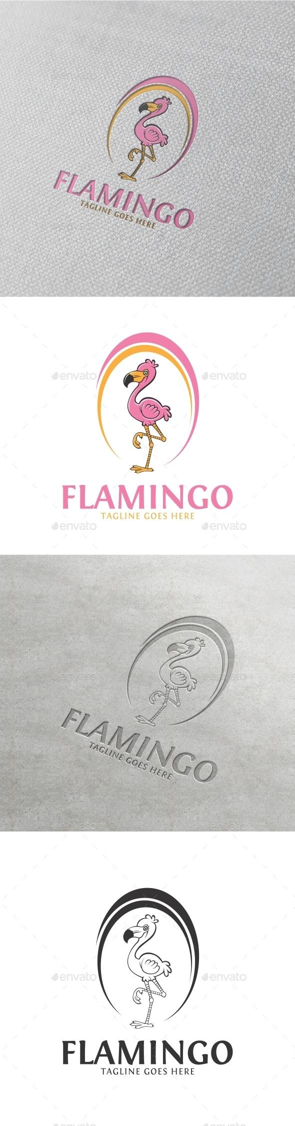 Flamingo logo - Abstract Logo Templates