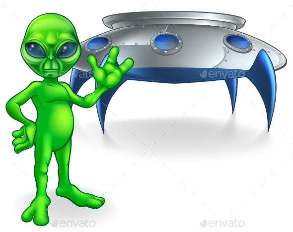 Alien and Flying Saucer Space Ship - Miscellaneous Characters