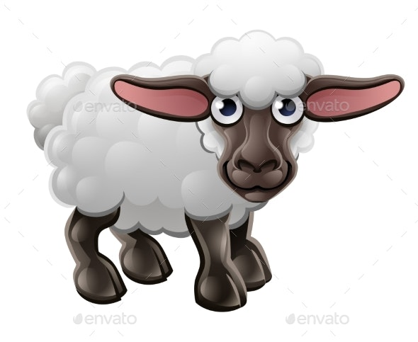 Cartoon Sheep Farm Animal - Animals Characters