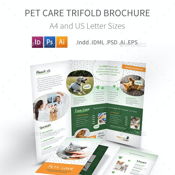 Pet Care Trifold Brochure 6