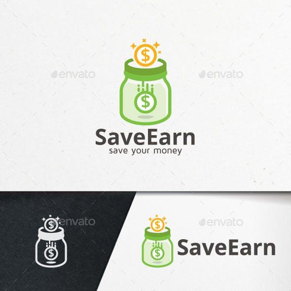 Save Earn Logo Template