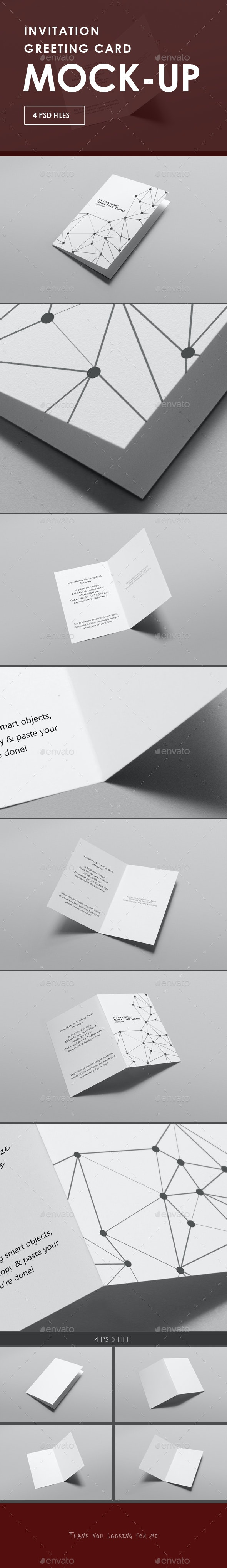 Invitation / Greeting Card Mock-Ups - Miscellaneous Print