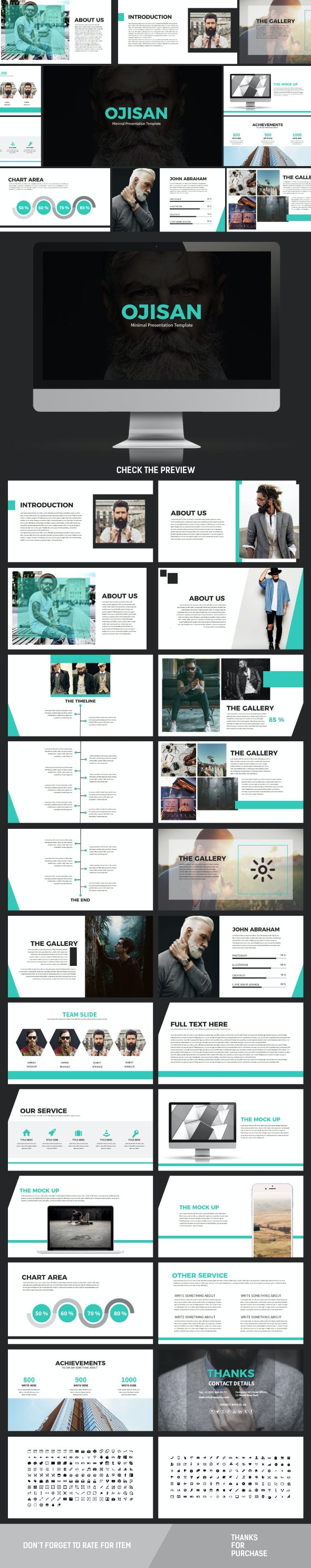 Ojisan Keynote Template - Creative Keynote Templates