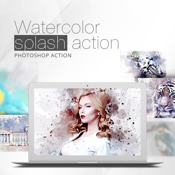 Watercolor Splash Action