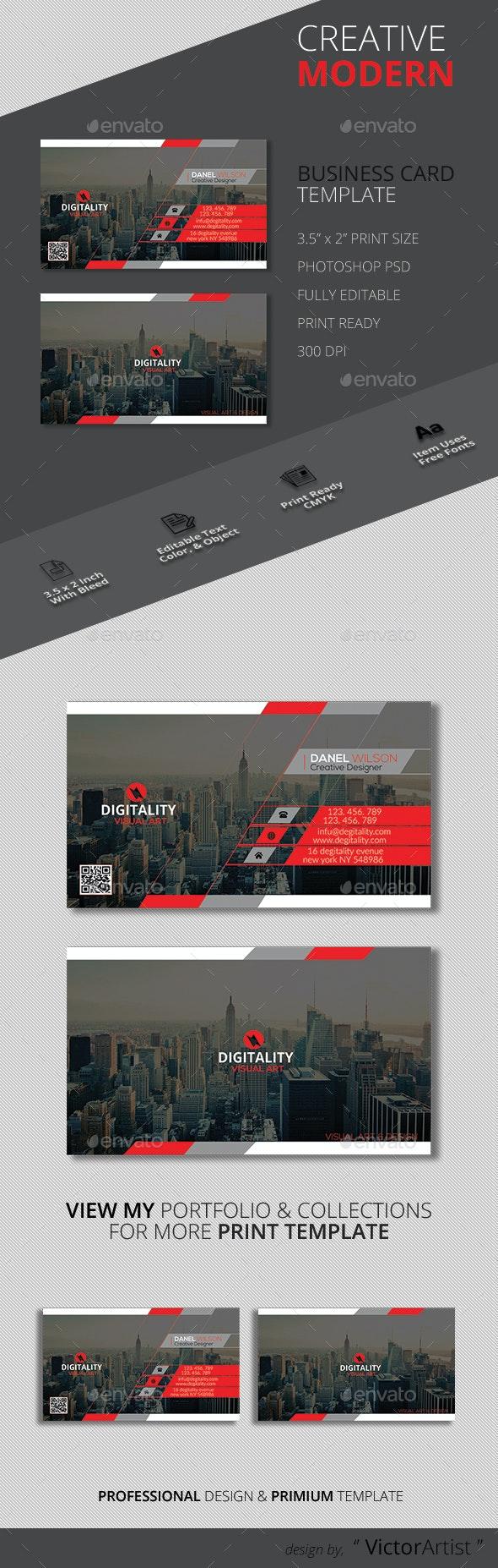 Creative Modern Business Card Template - Corporate Business Cards