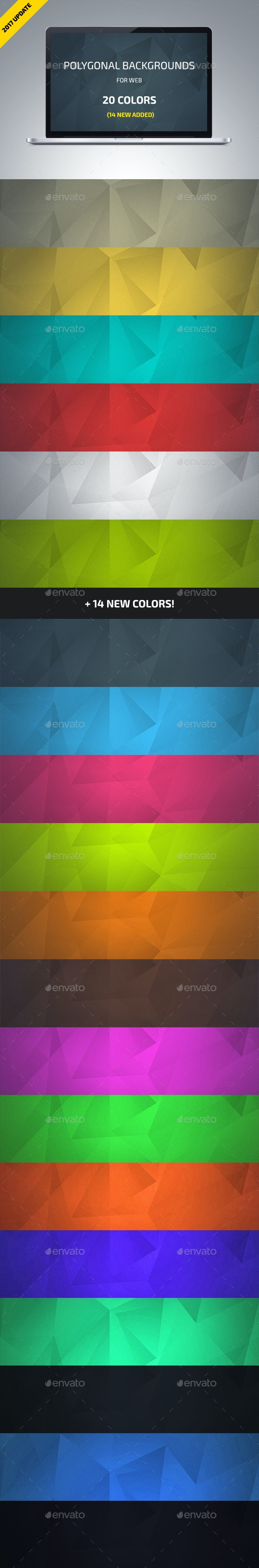 Polygonal Backgrounds (Updated 2017) - Abstract Backgrounds