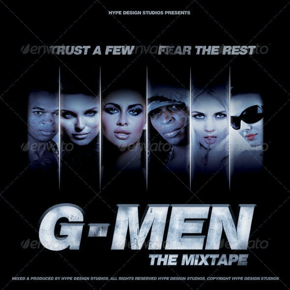 G Men Mixtape or Flyer Template