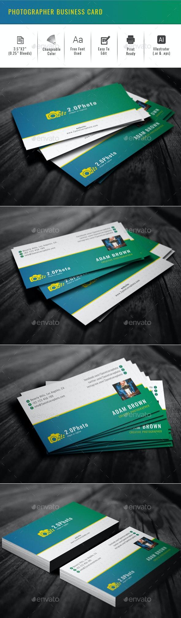 Photographer Business Card - Creative Business Cards
