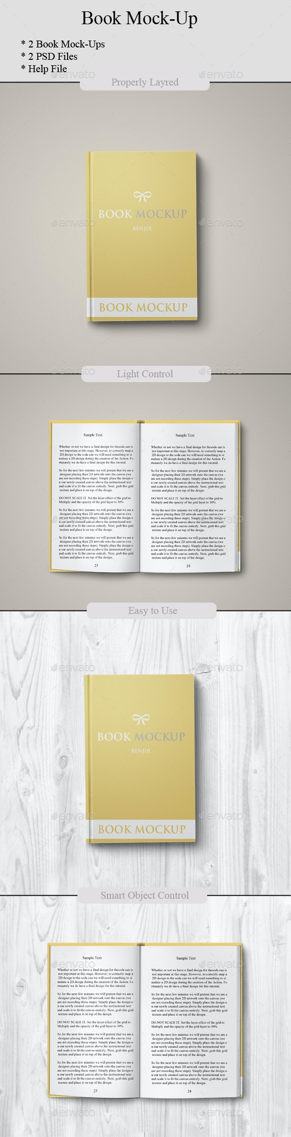 Book Mockup - Miscellaneous Print