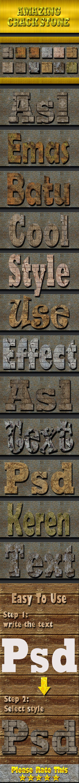 Cracked Stone Text Effect Style - Styles Photoshop