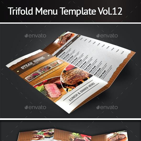 Trifold Menu Template Vol.12