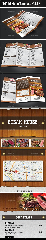 Trifold Menu Template Vol.12 - Food Menus Print Templates
