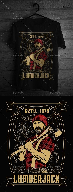Lumberjack T-Shirt Design - T-Shirts