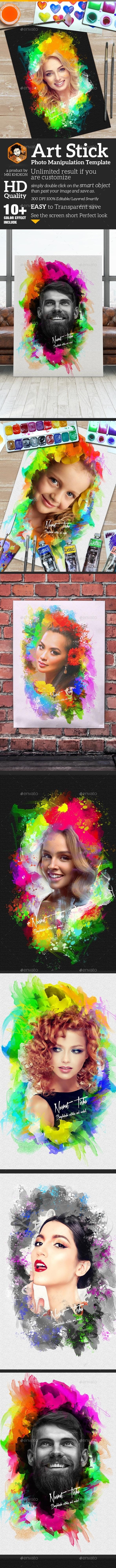 Artistic Photo Manipulation Template - Photo Templates Graphics