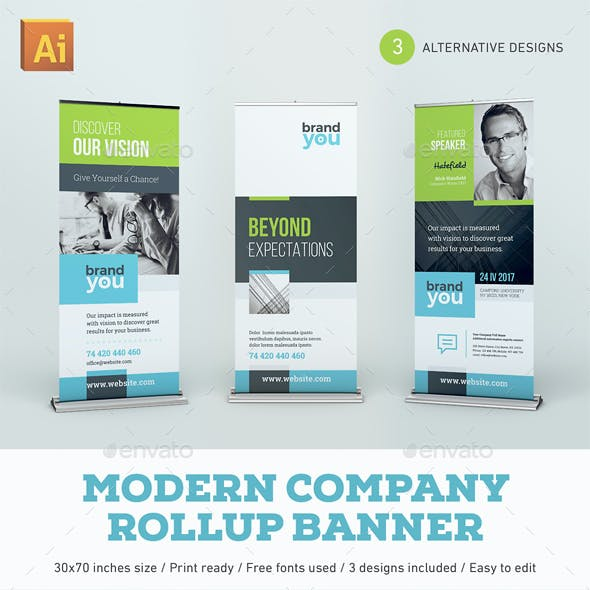 Modern Company Rollup Banner