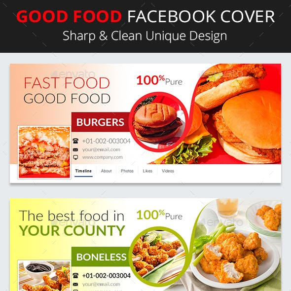 Good Food Facebook Cover