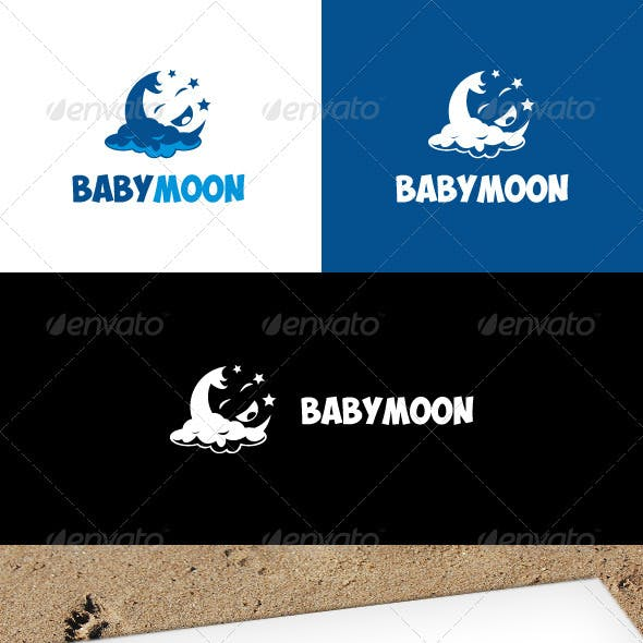 Baby Moon Logo Template