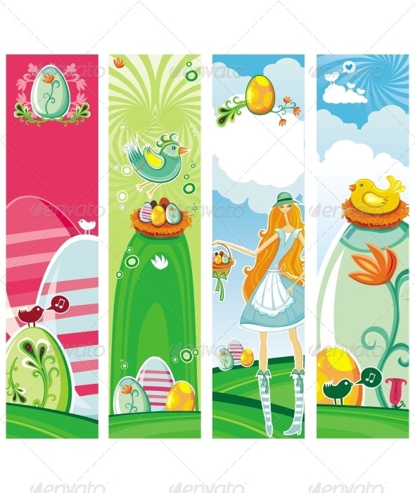 Easter vertical banners - Seasons/Holidays Conceptual