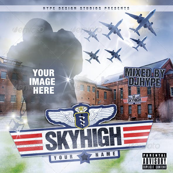Skyhigh Mixtape or Flyer Template