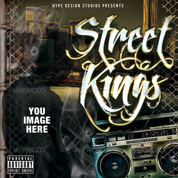 Street Kings Mixtape CD or Flyer Template