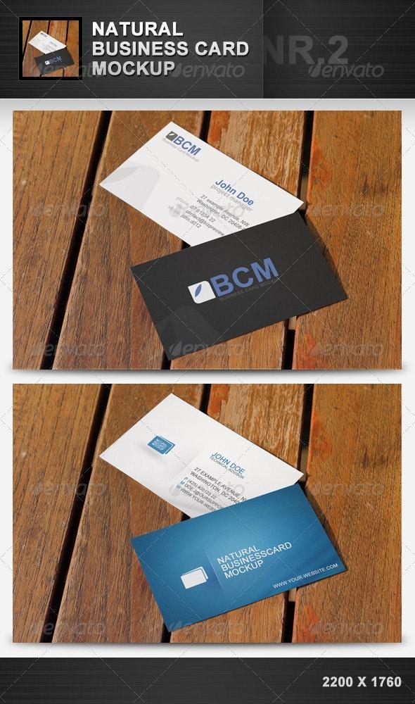 Natural Business Card Mockup 2 - Business Cards Print