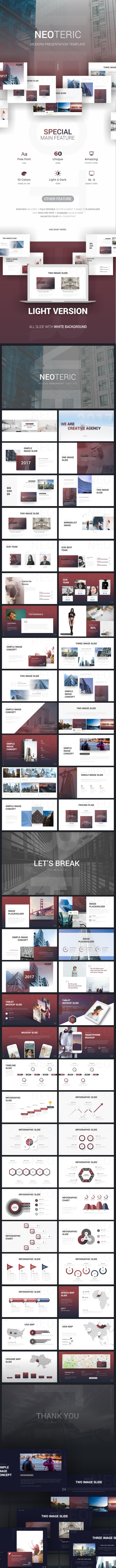 Neoteric Modern Presentation Template - Business PowerPoint Templates