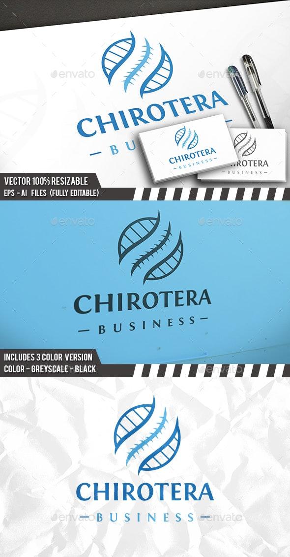 Chiropractic Circle Logo - Vector Abstract