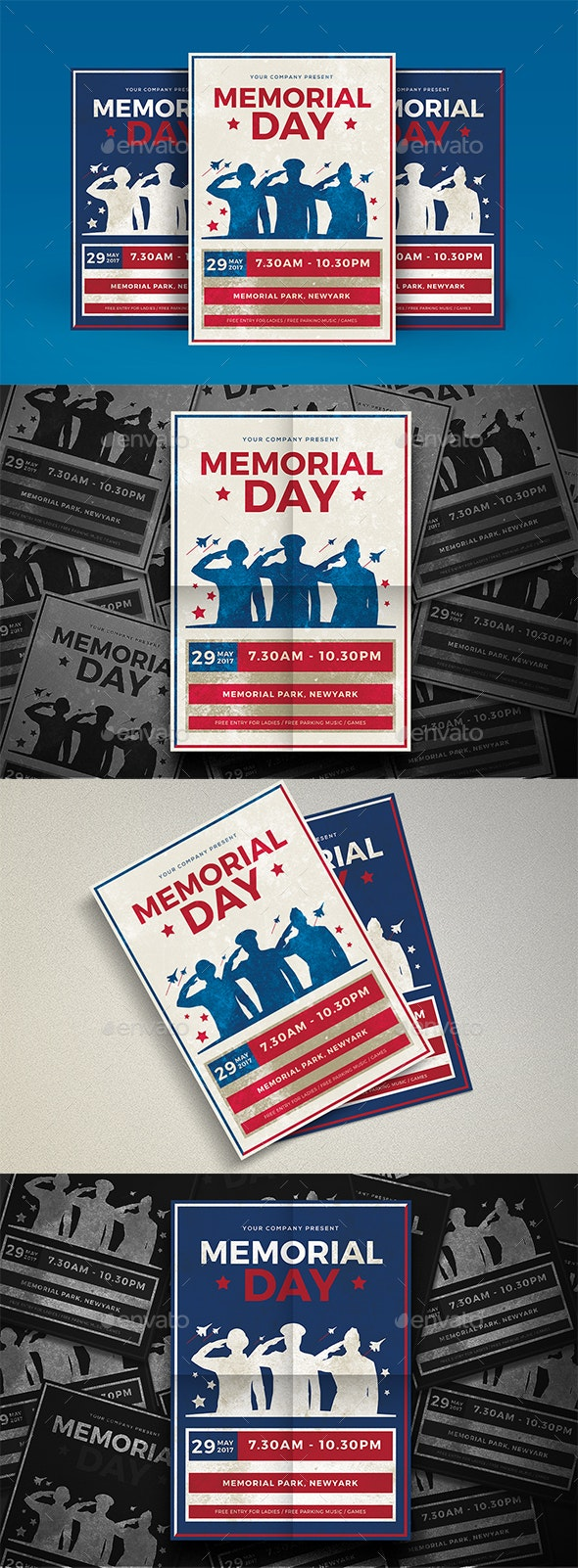 Modern Memorial Day - Events Flyers