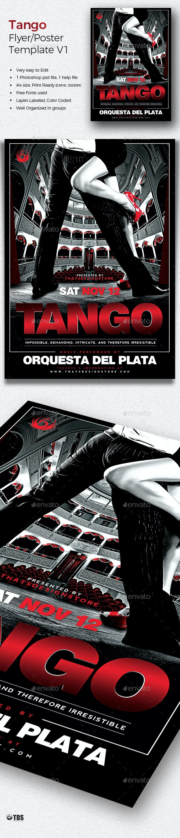 Tango Flyer Template V1 - Concerts Events