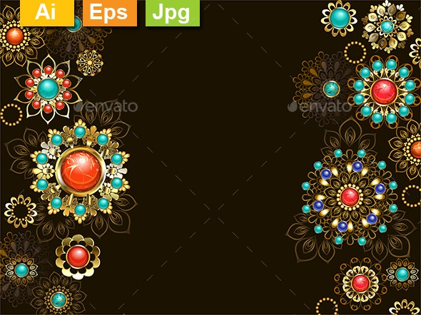 Background with Ethnic Ornaments - Backgrounds Decorative