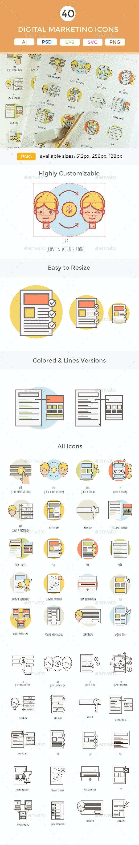 Digital Marketing Icons - Business Icons
