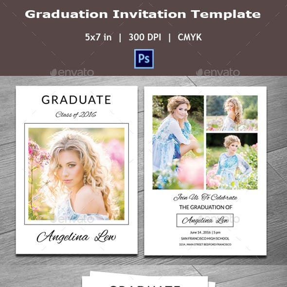Graduation Invitation Template V06