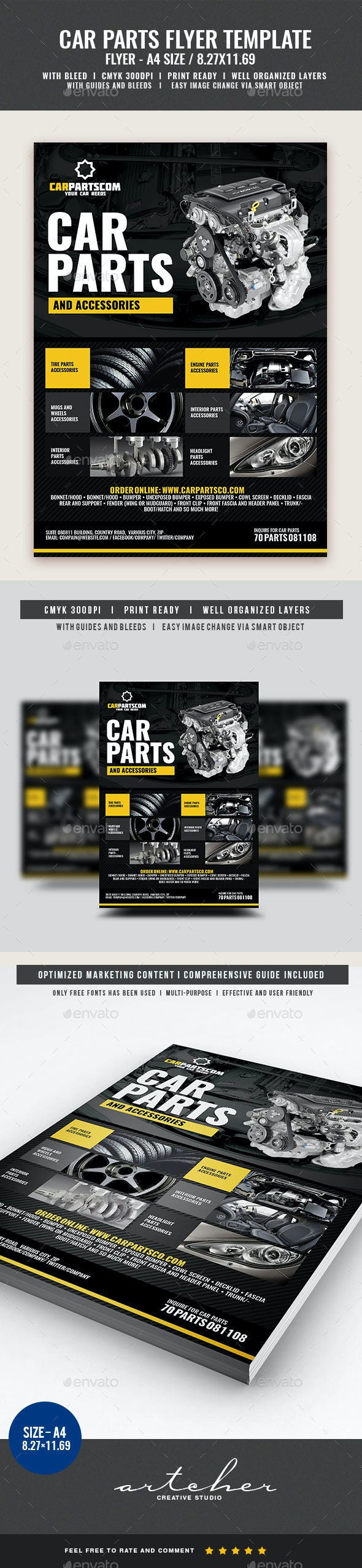 Car Parts and Accessories Flyer - Commerce Flyers
