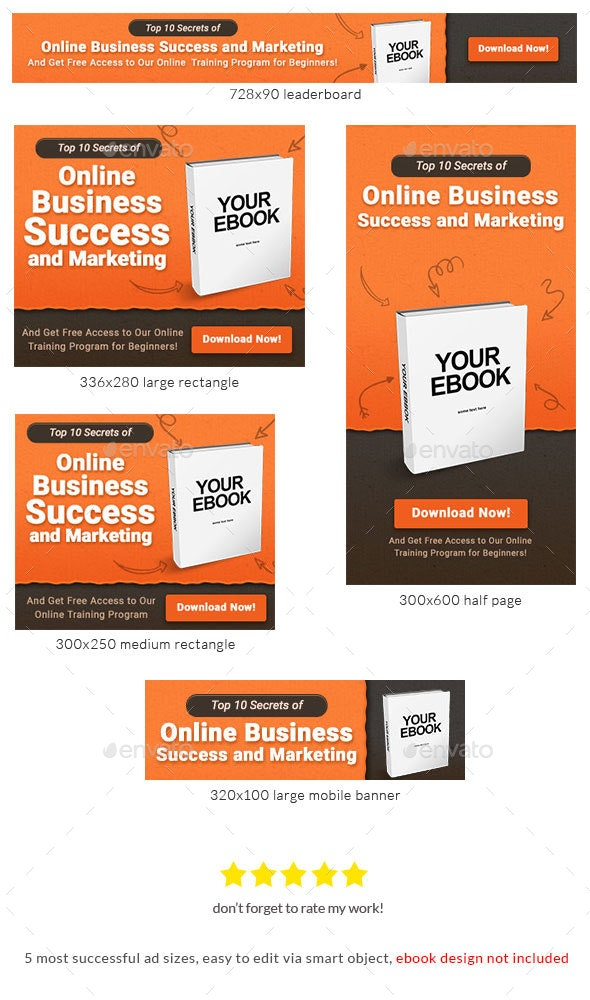 Ebook Banner Ad Template