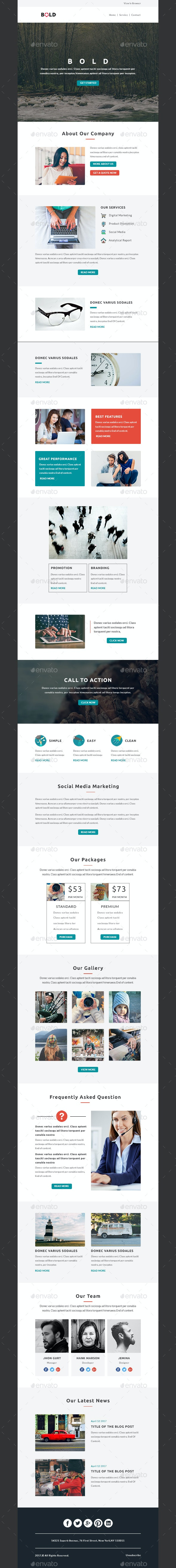 BOLD - Multipurpose Email PSD Template