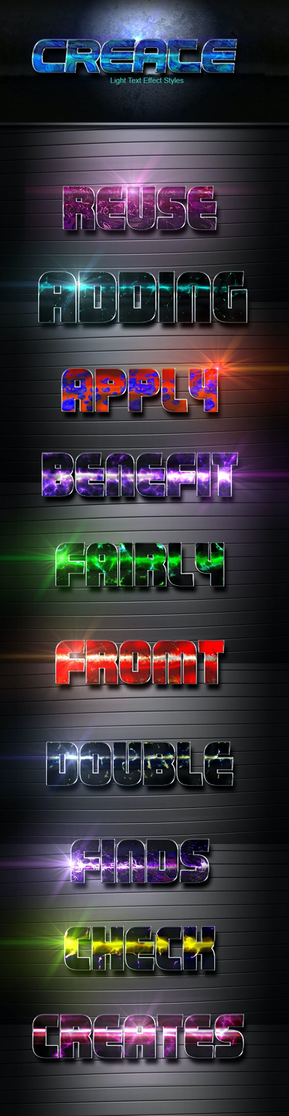 Create Vol 29 - Text Effects Actions
