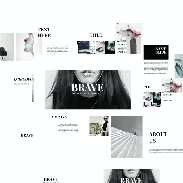 Brave - Clean Template Powerpoint Creative