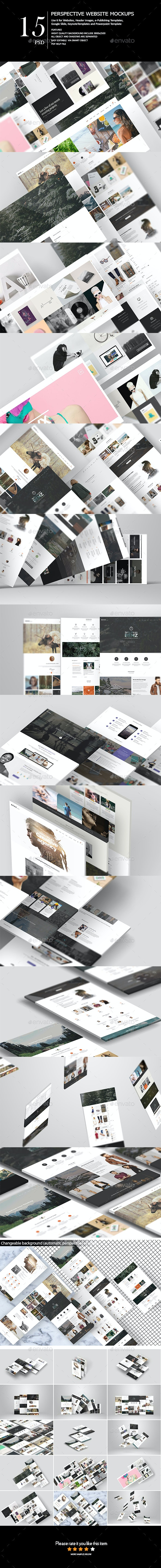 Perspective Web Mock-Up - Miscellaneous Product Mock-Ups