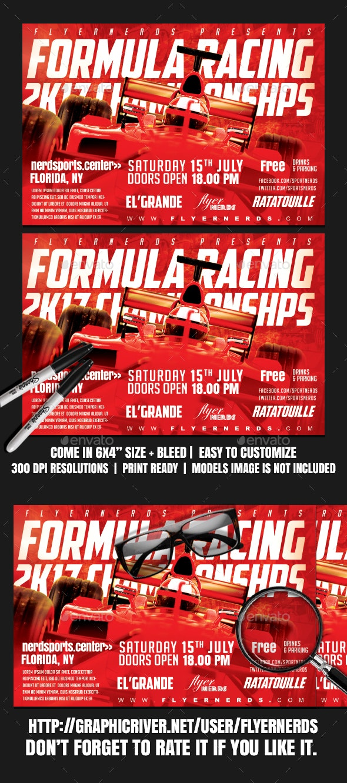 Formula Racing 2K17 Championships Sports Flyer - Sports Events