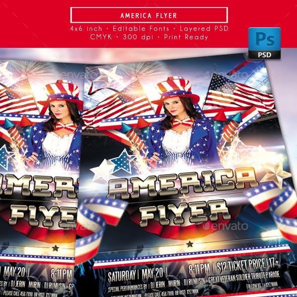 America Themed Flyer