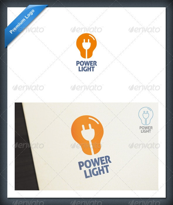 Power Light Logo template - Objects Logo Templates