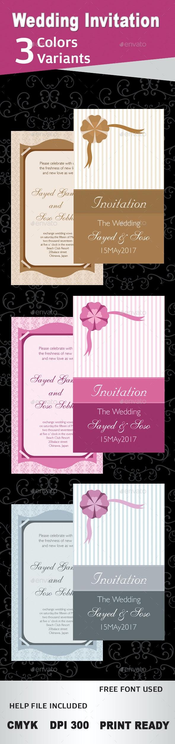 Wedding Invitation - Wedding Greeting Cards