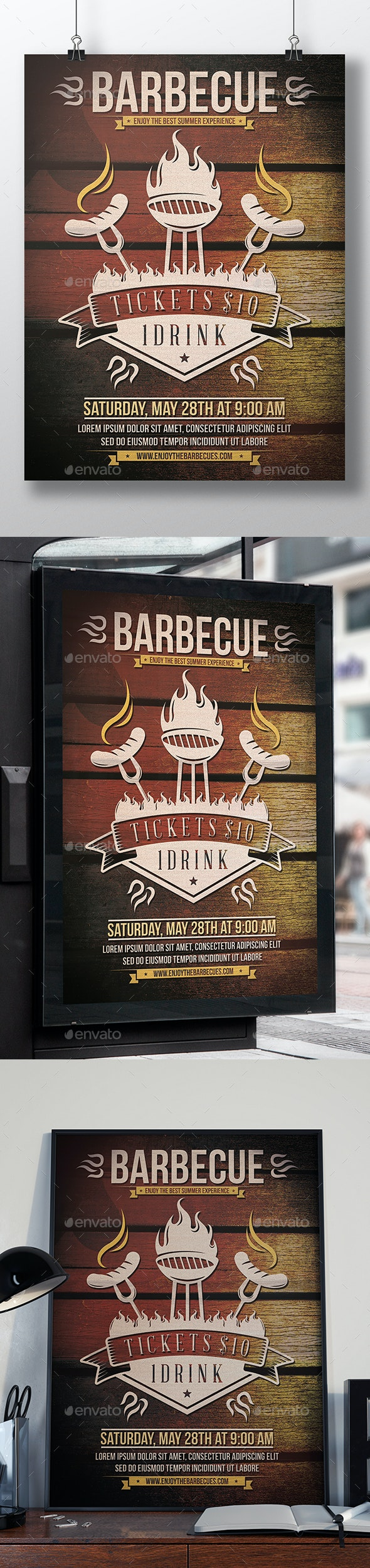 Summer Party BBQ Flyer - Events Flyers