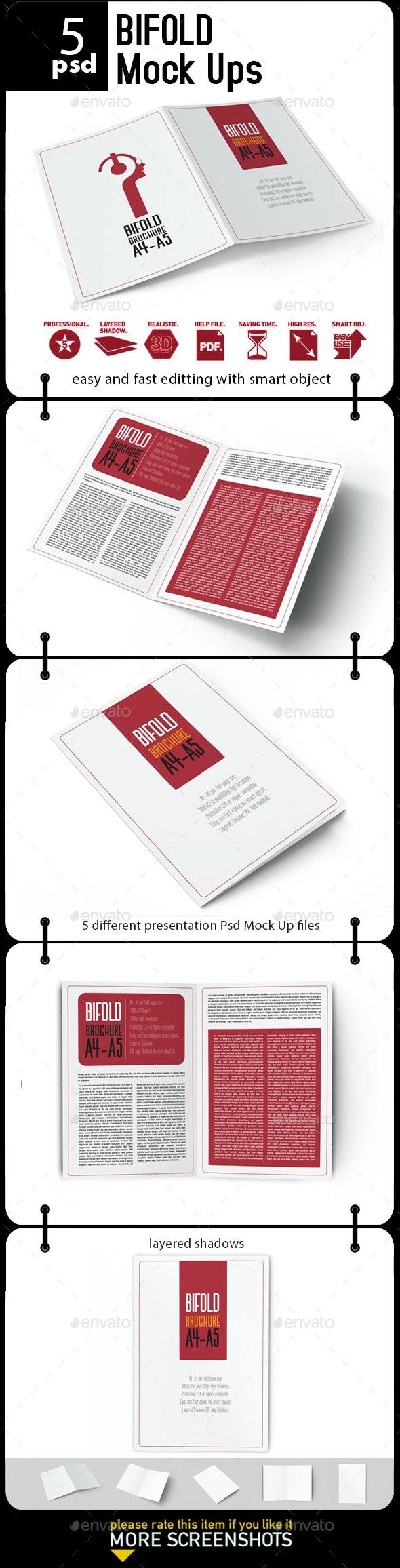 Bifold Brochure Mock Up - Brochures Print