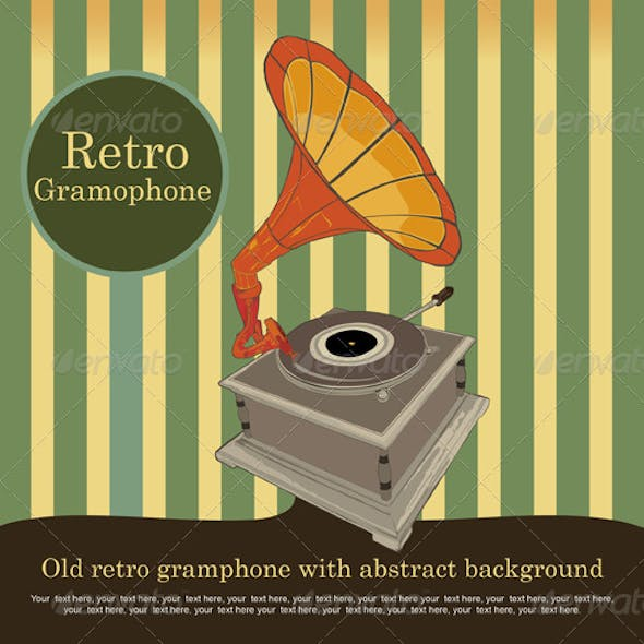 old retro gramophone vector by envagraph graphicriver old retro gramophone vector by