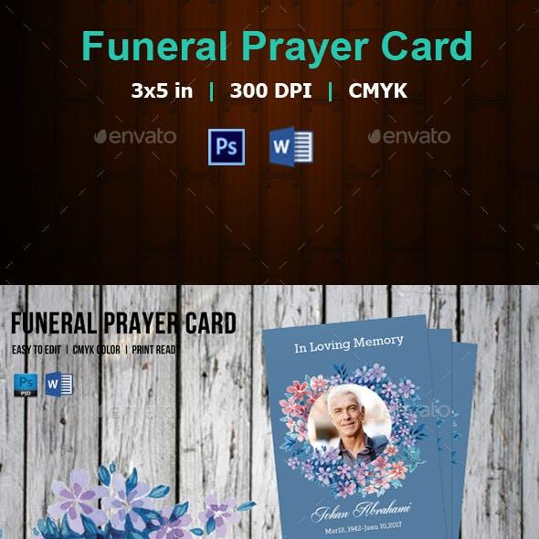 Funeral Prayer Card Template-V174